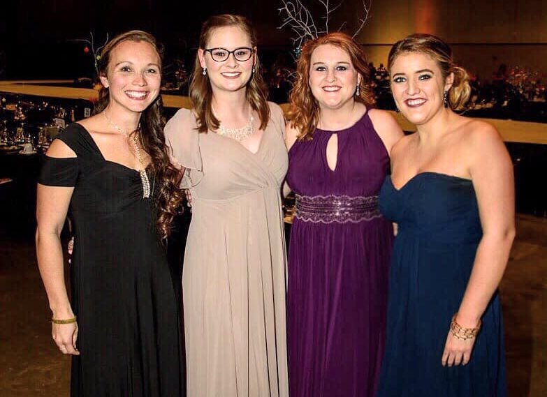 Staff - [Left to Right:] Tessia Sammons, Jenny Markle, Dr. Rene' Holt, MaCayla Beck